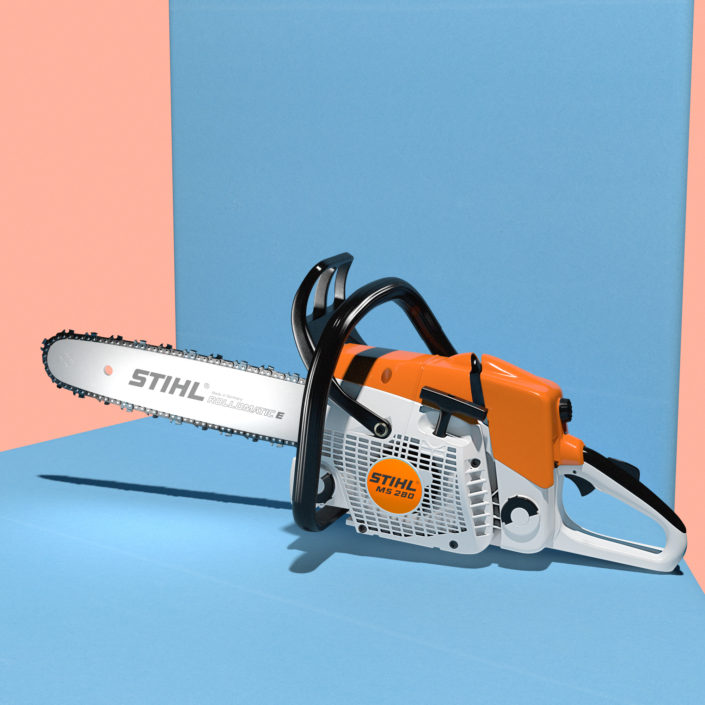 Composition with Chainsaw